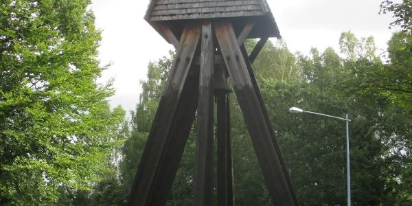 Klockstapel vid Skånes Värsjös småkyrka