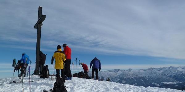Gipfel des Großen Ochsenkopfes im Winter