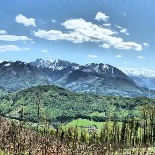 Panorama von Ennstaler Voralpen bis zum Toten Gebirge