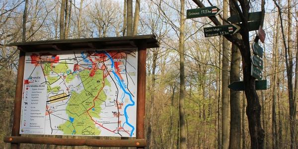 Informationstafel zum Planitzwald