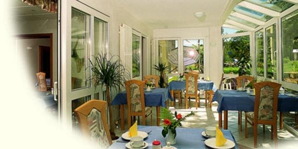Speisezimmer im Gästehaus Steker