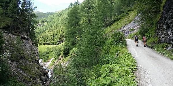 Aufstieg zur Sticklerhütte
