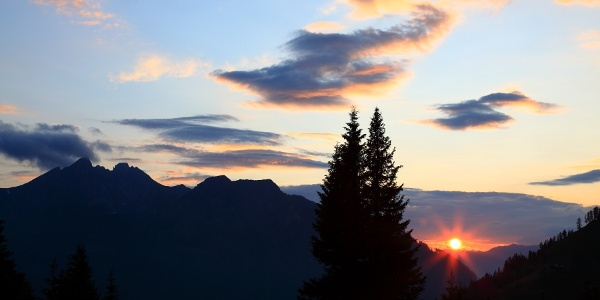 Sunset on the Breitenebenalm