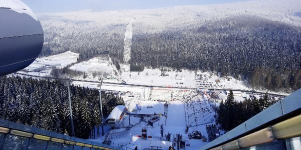 Sparkasse Vogtland Arena von oben