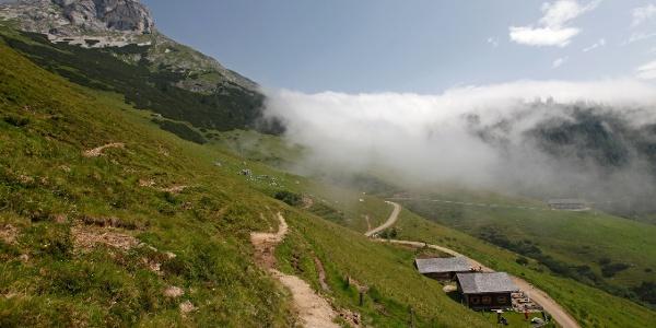 Panoramablick auf die Brandstättalm am Salzburger Almenweg