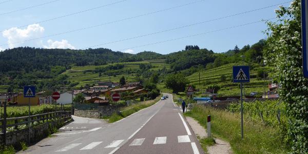 Beginn der Monte Baldo Höhenstraße bei Mori