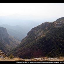 Sentiero degli Alpini am Pietravecchia in Ligurien