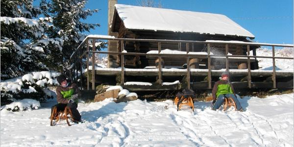 Winterlandschaft bei Sehmatal-Neudorf