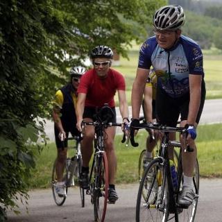 Radler bei der 2. Unterallgäu Radtour 2009