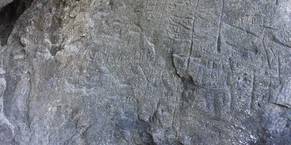 Raetische Inschriften Detail (2)