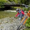 Kurzer Halt am Feistritztalradweg