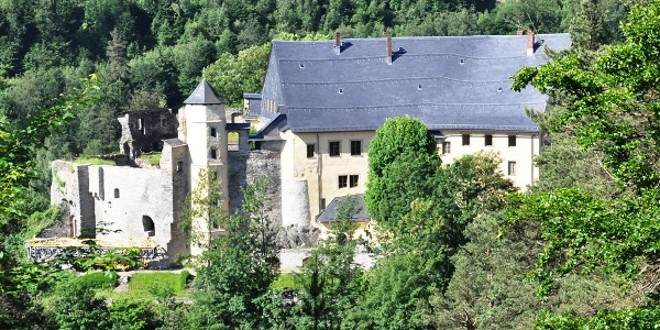 Blick von der Wedelshöhe auf Schloss Wespenstein