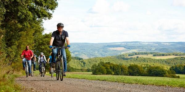 Radfahrer Rhein-Mosel-Eifel-Radweg