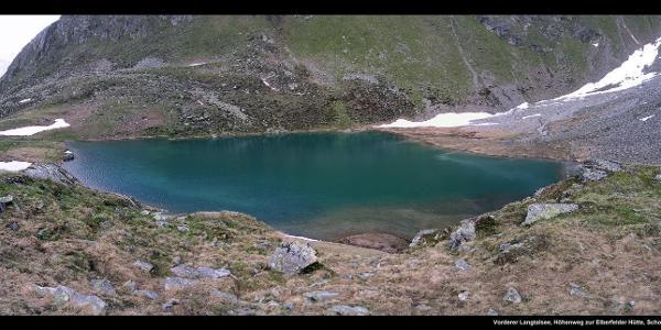 Vorderer Langtalsee, Höhenweg zur Elberfelder Hütte