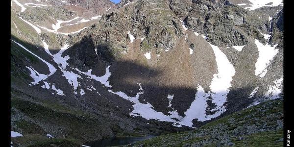 Mittlerer Langtalsee, Höhenweg zur Elberfelder Hütte