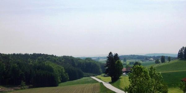 Blick von der Kapelle bei Staudenpoint ins Taubenbacher Tal