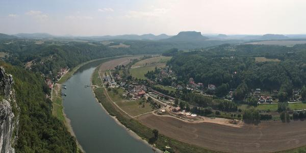 Bastei und Elbe.