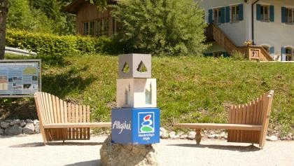 Start- und Willkommensplatz in Halblech beim Kenzenparkplatz