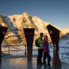 AAT Infopoint Kaiser-Franz-Josefs-Höhe mit Großglockner und Pasterzen Gletscher