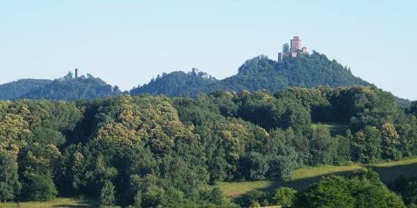 Blick von Gräfenhausen zum Trifels