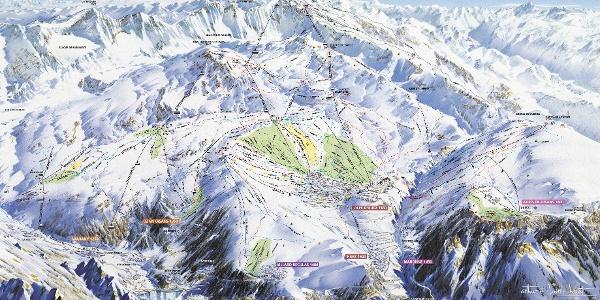 Das Pistenpanorama von Alpe d´Huez