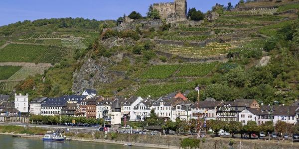 Ansicht Kaub mit Burg Gutenfels