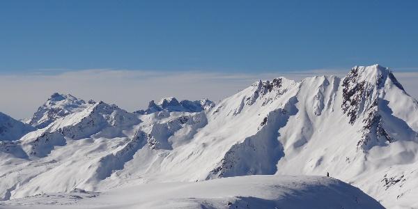 Skitour durch die Winterlandschaft