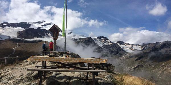 Tag 15: Aussicht von der Marteller Hütte