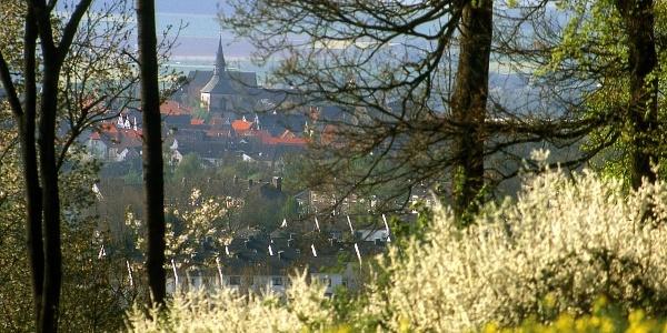 Blick auf die historische Altstadt von Blomberg / Lippe