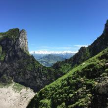 Abstieg nach Schwarzsee
