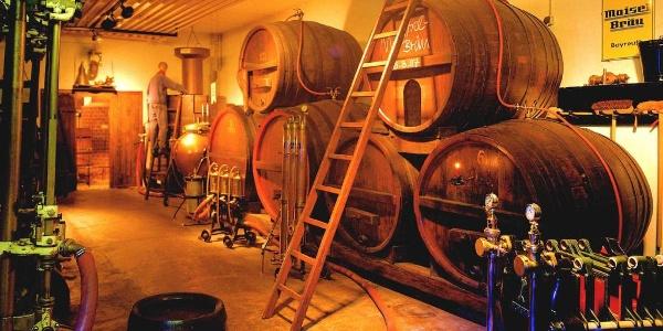 Fasskeller in der Maisel's Bier-Erlebnis-Welt