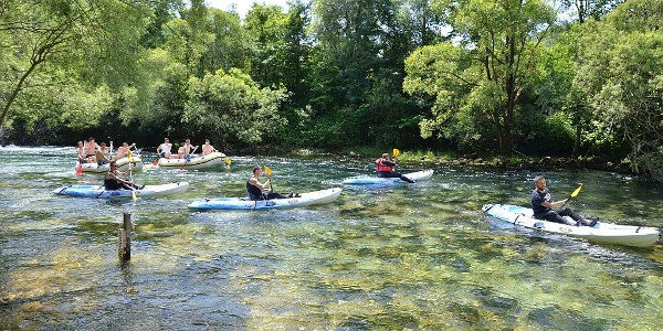 Kayaking and rafting-start in Martin Brod