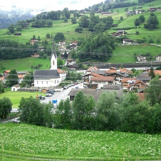 Das Dorf Küblis