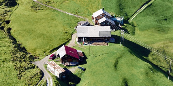 Die Alp Vorder Wissenboden auf dem Biel