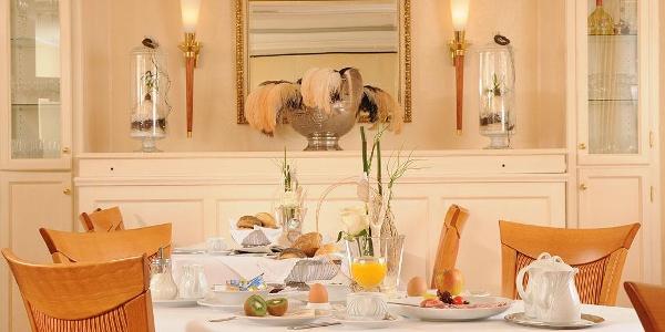 Gedeckter Tisch im Restaurant des Landhotel Jäckel
