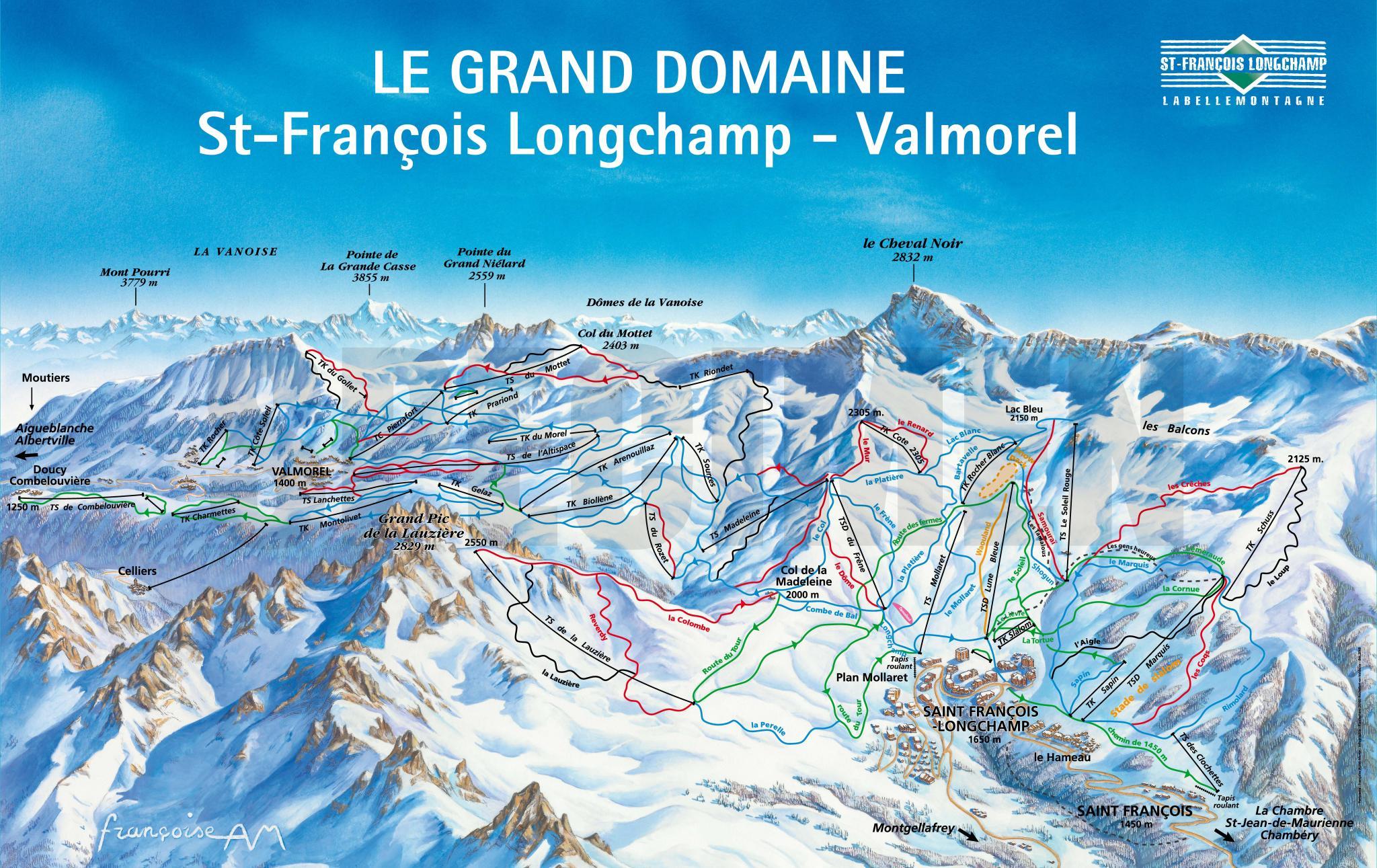 St. François-Longchamp • Domaine skiable » outdooractive.com
