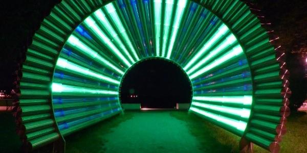 Farbwechsel im Lichttunnel