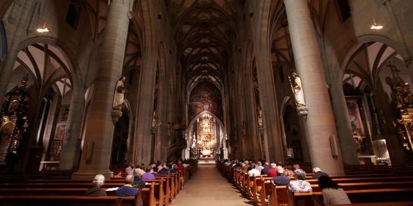 Innenansicht des Münsters St. Nikolaus