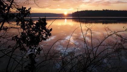 Sonnenuntergang am Stechlinsee