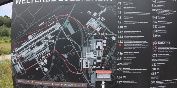 Eingangkarte Weltkulturerbe Zollverein
