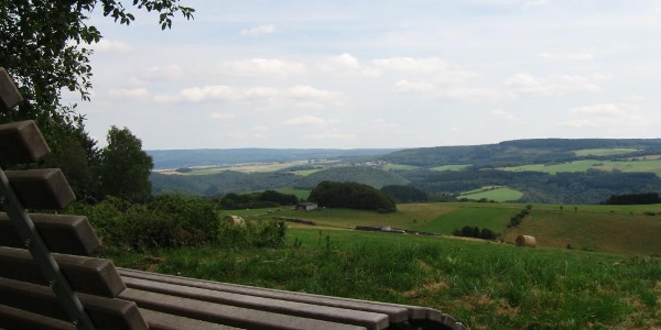 Panoramablick über die Hunsrückhöhen