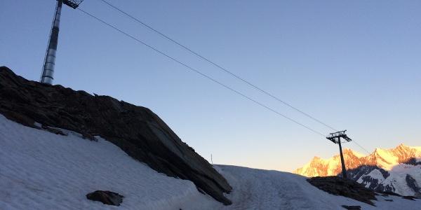 Kurz vor der Bergstation.