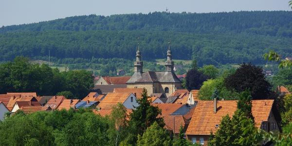 Blick auf das Kloster Willebadessen