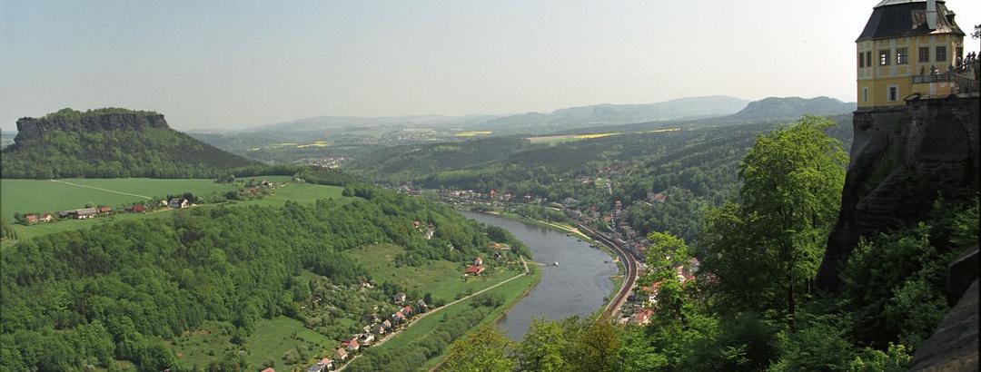 Die Festung und der Lilienstein.