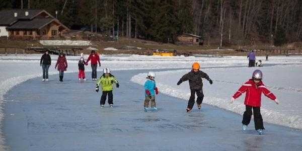 Eislaufen am Trabochersee