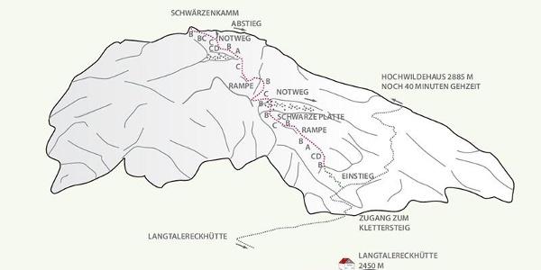 Klettersteig Schwärzenkamm