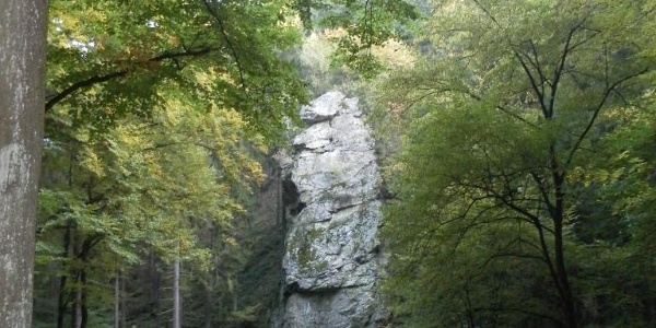 Der Bilstein-Felsen - einer der Weg-Höhepunkte