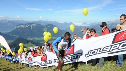 Kaisermarathon-Zieleinlauf auf der Hohen Salve