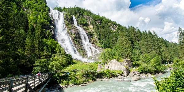 Le famose cascate Nardis in Val Genova