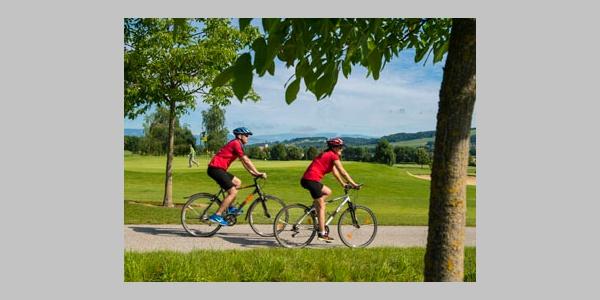 Naturnahe Fahrradstrecke